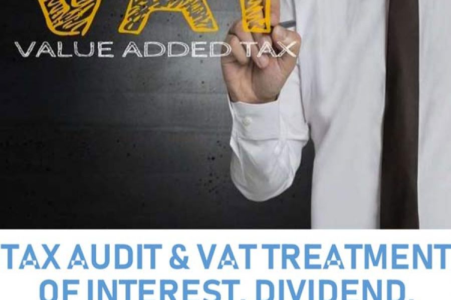 Tax Audit VAT Treatment of Interest Dividend Donations Grant and Sponsorship